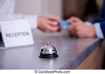 dzwon, kantor, hotel przyjęcie