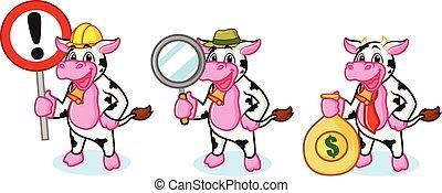 dzwon, krowa, znak