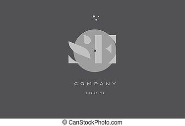 e, alphabet, compagnie, moderne, gris, s, lettre, logo, icône