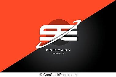 e, alphabet, compagnie, s, noir, lettre, logo, technologie, rouges, icône