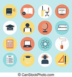 e-aprendendo, ícones