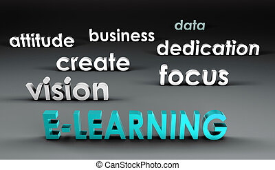 e- aprendizaje, en, el, forefront