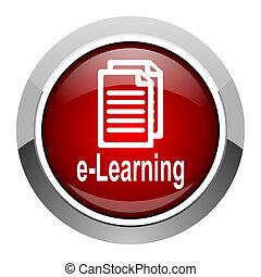 e- aprendizaje, icono