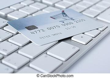 e-bancaire, concept, paiement électronique