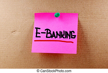 e-bankwesen, begriff
