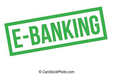 e-bankwesen, briefmarke, typ