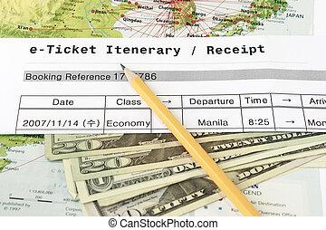 e-biglietto, itenerary