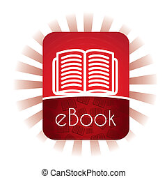 E book announcement over white background vector...