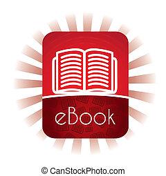 E book announcement over white background vector ...