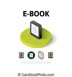 E-Book icon in different style