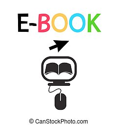 E-BOOK Icon Vector Logo Design Symbol