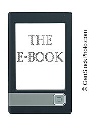 E-book reader isolated on the white background