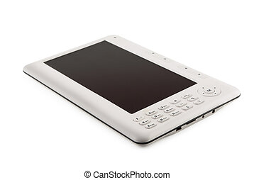 E-book reader on a white background