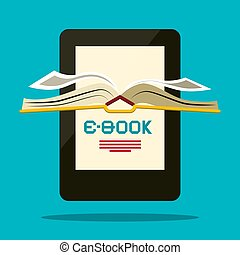 E-book Reader. Vector Book Symbol.