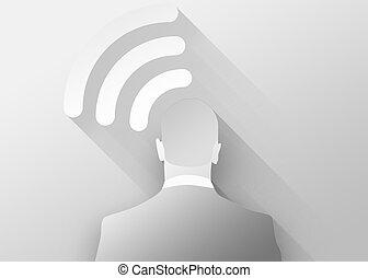 E-business concept 3d illustration flat design