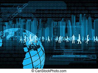 E business concept