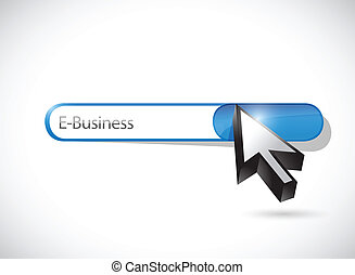 e business search bar illustration design