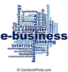 E-business word cloud