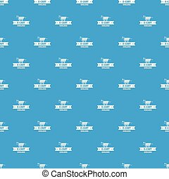 E cart pattern vector seamless blue