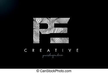 e, carta, líneas, textura, p, diseño, zebra, vector., pe,...
