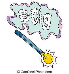 e cigarette - An image of an e cigarette.