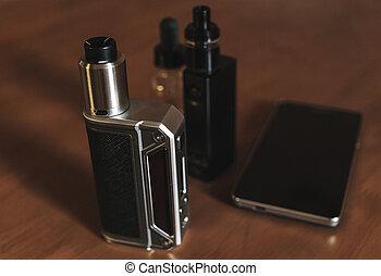 E-cigarette for vaping, dripping atomizer, liquid for vape...