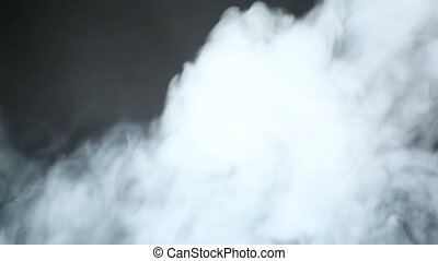 e-cigarette, gőz, black háttér