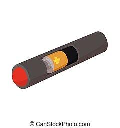 E-cigarette icon, cartoon style
