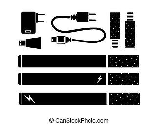e-cigarette kits - silhouette