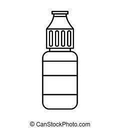 E-cigarette liquid flavour icon, outline style - Electronic...