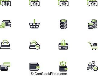 e-commerce, állhatatos, ikon