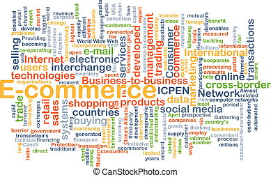 E-commerce background concept - Background concept wordcloud...