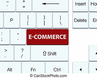 E-commerce brown keyboard button