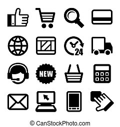 E-commerce Business Icons Set. Vector