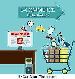 e-commerce., business, ligne