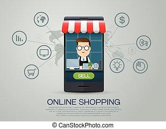 e-commerce business shopping online