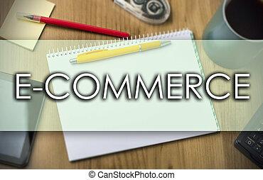 e-commerce, business, texte, -, concept