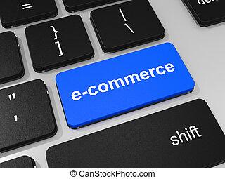 e-commerce, clé portable, computer., clavier