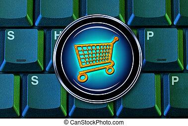 E-Commerce computer keys.