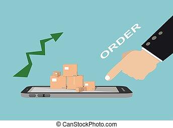e-commerce, concept, business, ligne