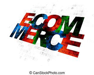 e-commerce, concept:, fond, business, numérique
