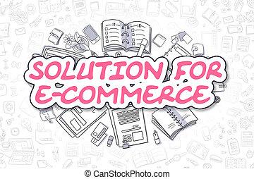 e-commerce, concept., -, solution, business