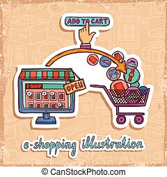 E-commerce design concept