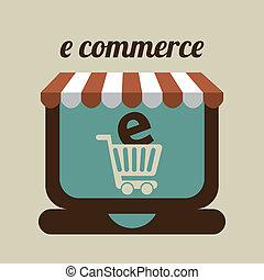 E commerce design - E-commerce design over beige background,...