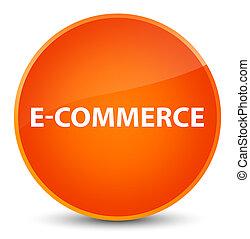 E-commerce elegant orange round button