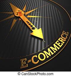 e-commerce., empresa / negocio, fondo.