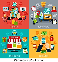 E-commerce Flat Design Concept
