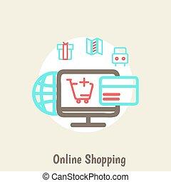e-commerce, fond, infographics