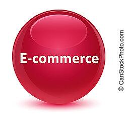 E-commerce glassy pink round button