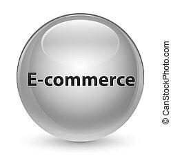 E-commerce glassy white round button
